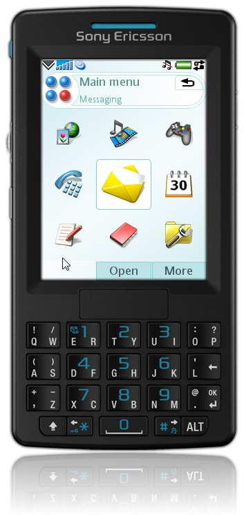 Remote Professional using a Sony Ericsson M600 Skin